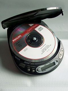 an electronic device that plays audio compact discs