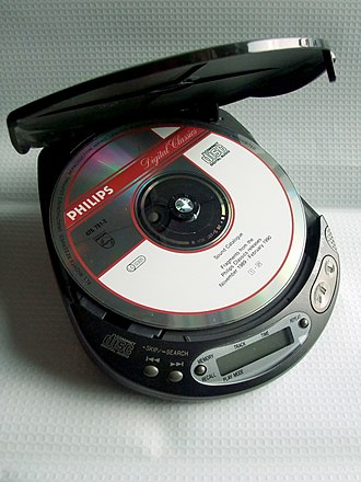 CD player - A portable CD player