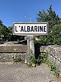 Panneau Michelin Albarine St Denis Bugey 1.jpg