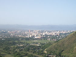 Panorama view of Maracay and Lake Valencia, from Henri Pittier National Park