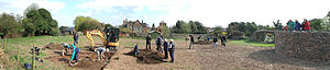 Time Team - Image: Panorama of Time Team in Groby