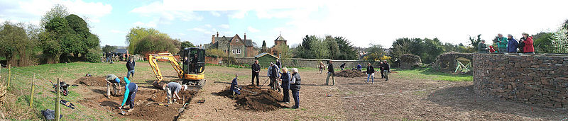 Panorama of Time Team in Groby
