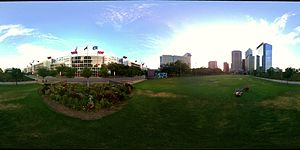 Discovery Green - Image: Panoramic View of Discover Green Park in Houston