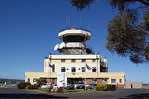 Parafield Airport - Image: Parafield Airport tower Vabre 1