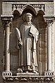 Paris - Cathédrale Notre-Dame - Façade ouest - Statue - PA00086250 - 003.jpg