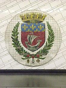 Blason De Paris Metro Hotel De Ville