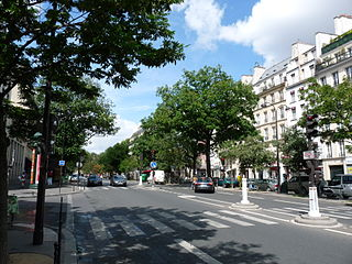 Boulevard du Temple boulevard in Paris, France
