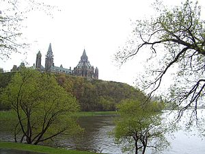 Centre Block and Library of Parliament, on Parliament Hill