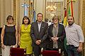 Parodi, Flores Enriquez, Gareca, Guariglio y Osinaga - Parodi se reunió con Liborio Flores Enriquez (16075257934).jpg