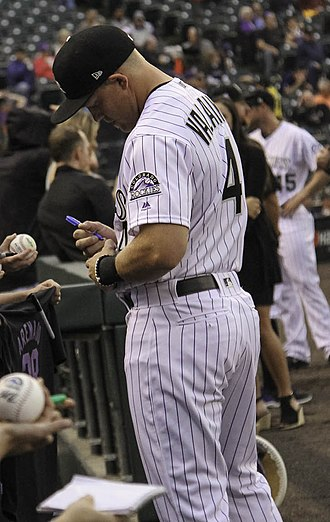 Pat Valaika - Valaika at Coors Field in 2018