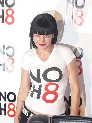 Pauley Perrette - Perrette at the NOH8 Campaign in 2009