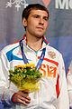 Pavel Sukhov podium 2013 Fencing WCH EMS-IN t213547.jpg
