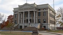 Pawnee County, Nebraska courthouse from NW 1.JPG