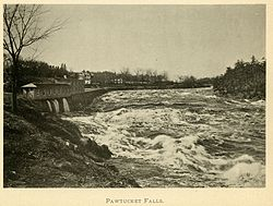 Pawtucket Falls around 1896