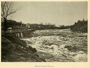 Pawtucket Falls (Massachusetts) - Pawtucket Falls around 1896