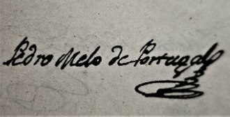 Pedro Melo de Portugal - Image: Pedro melo de portugal firma