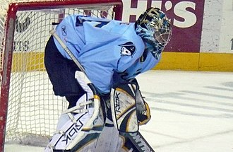 Pekka Rinne - Rinne with the Predators during the 2007–08 season. He served as the team's back-up goaltender in the latter half of that season.