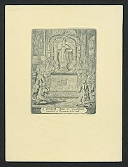 Pilgrims praying to Saint Bernard of Clairvaux (2)