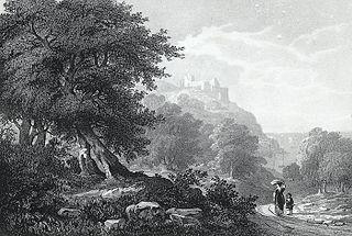 Penarth castle, Oxwich bay, Glamorganshire