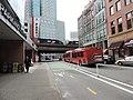 Penn av bikeway passes bus station jeh.jpg