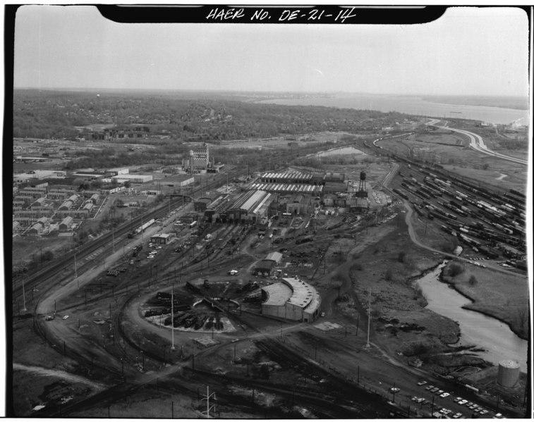 File:Pennsylvania Railroad- Wilmington Shops. Wilmington, Newcastle Co., DE. Sec. 1201, MP 24.96. (See HAER No. DE-12 and 12A for further documentation on this site). - Northeast HAER DEL,2-WILM,43-14.tif