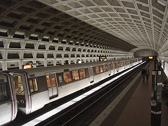 Harry Weese - Pentagon City Station, a typical stop on the Washington Metro, considered one of the best examples of brutalist style architecture.