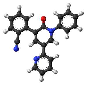 Perampanel - Image: Perampanel molecule ball