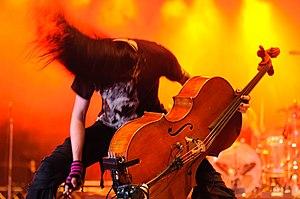 Apocalyptica - Perttu Kivilaakso at the 2009 Ilosaarirock festival.