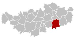 Perwez - Image: Perwez Brabant Wallon Belgium Map