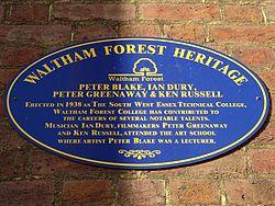 Peter blake ian drury peter greenaway ken russell (waltham forest heritage)