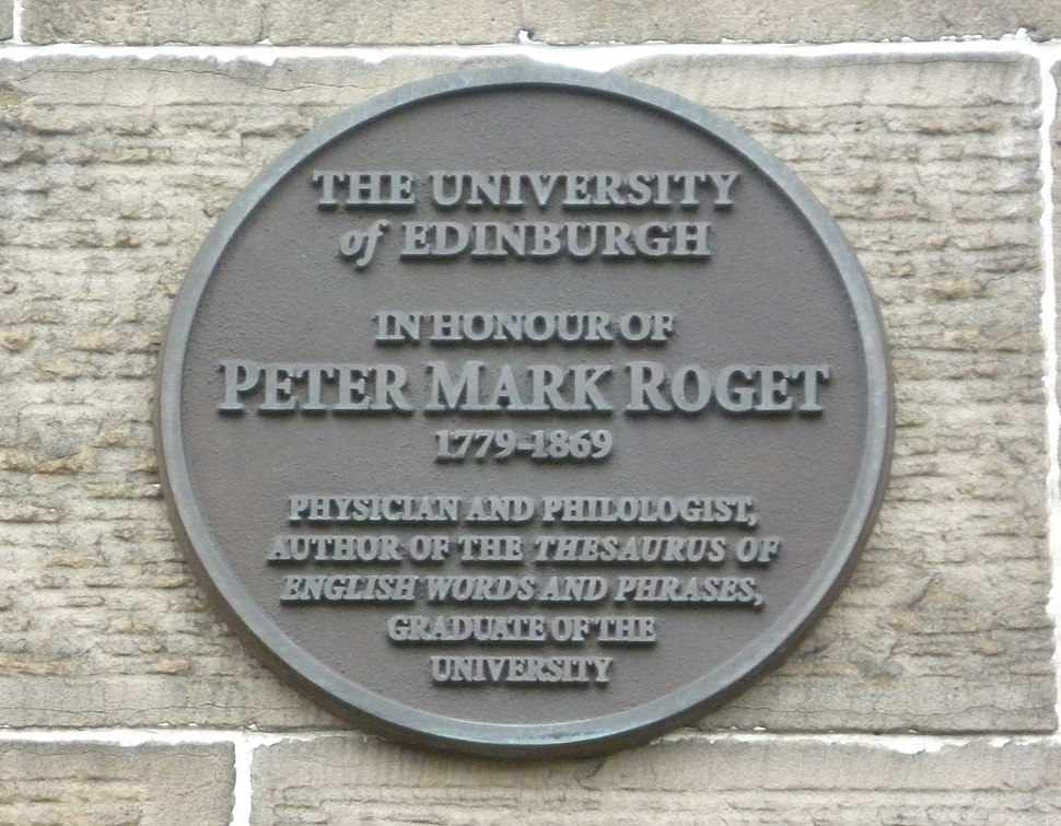 Peter Mark Roget plaque, Edinburgh University