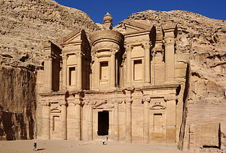 Nabataean architecture - Ad Deir monastery in Petra, dated to 1st century