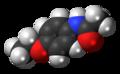 Phenacetin molecule spacefill.png