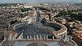 Piazza San Pietro Panorama from basilica.jpg