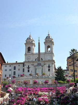 "Rome, the Spanish Steps and ""Trinita dei ..."