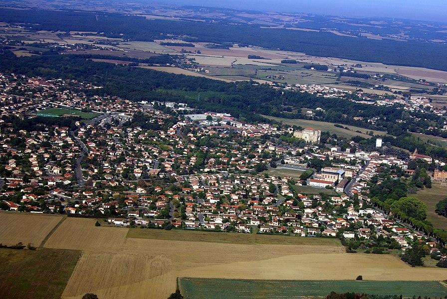 Vue aérienne de Pibrac.