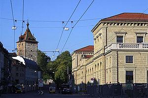 Schaffhausen railway station - Schaffhausen railway station frontage
