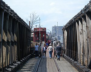 Pier 63 - Caboose at Pier 66a