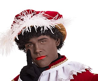 Zwarte Piet Companion of Saint Nicholas celebrated in the folklore of the Low Countries
