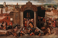 Hieronymus Bosch: Christ Driving the Traders from the Temple