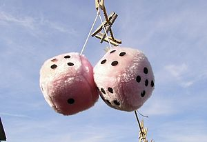 Fuzzy dice - A pair of fuzzy dice