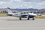Piper PA-30-160 Twin Comanche (VH-DHC) taxiing at Wagga Wagga Airport (1).jpg