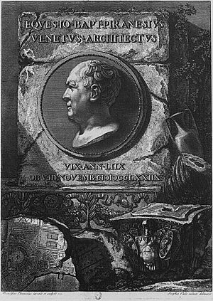 Giovanni Battista Piranesi - Self-portrait of Piranesi.