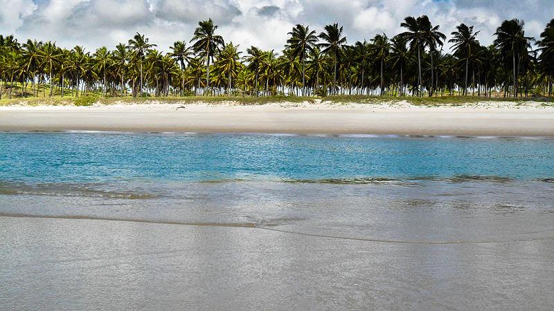 Piscina natural em Alagoas