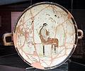 Pittore di lyandros, kylix attica a fondo bianco da cesa (marciano della chiana), con afrodite in trono, 460 ac. ca.JPG