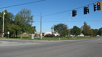 Pittsfield Township, Lorain County, Ohio - Main intersection at Pittsfield Center