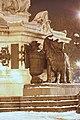 Place de la République (Paris), lion sous la neige.jpg