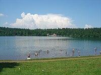 Plage du lac du Bouchet.JPG
