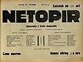 Plakat za predstavo Netopir v Narodnem gledališču v Mariboru 23. februarja 1930.jpg