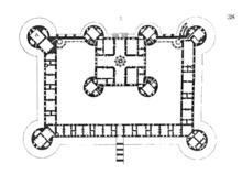 Pianta del corpo principale del castello